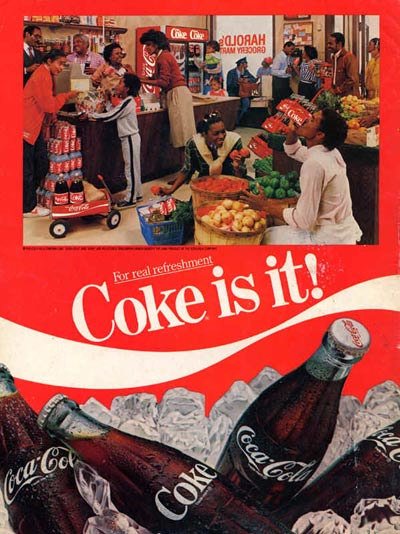 a study of great advertising print ads from cococola