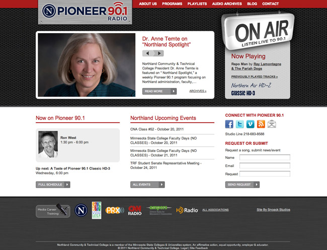 New Website Launch: Pioneer 90.1 Radio | Snoack Studios Blog